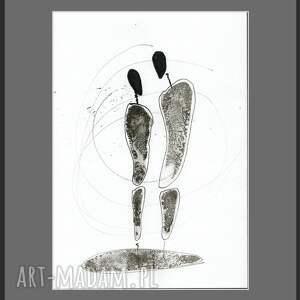 minimalizm grafika białe a4, ręcznie malowany, abstrakcja