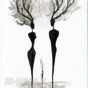 intrygujące obrazy ręcznie malowane grafika a4, minimalizm, abstrakcja