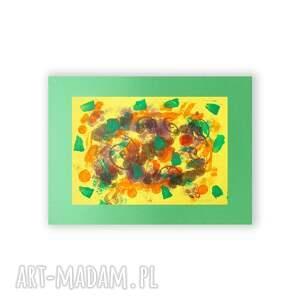 abstrakcja żółte na ścianę, abstrakcyjna