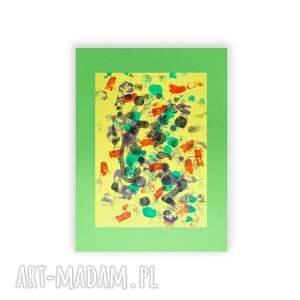 abstrakcja żółte malowana ręcznie. grafika na grubym