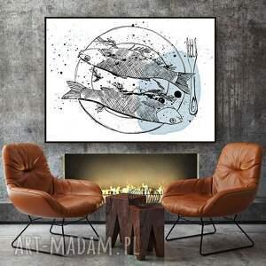 grafika ryby art print... a4