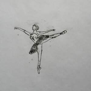 ciekawe grafika baletnica