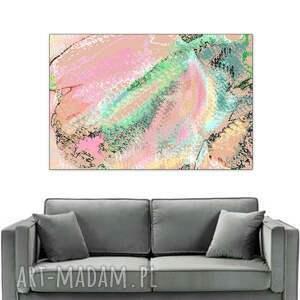 zielone obrazy na płótnie grafika cyfrowa, tulipan, 60 x