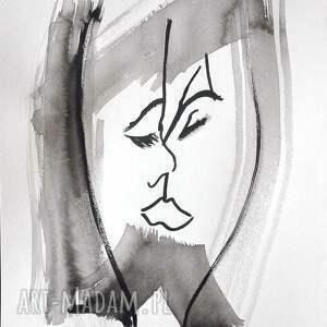 czarne czarno białe grafiki grafika biała, pocałunek