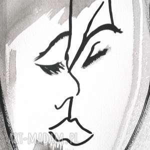 grafiki czarno biała grafika, pocałunek