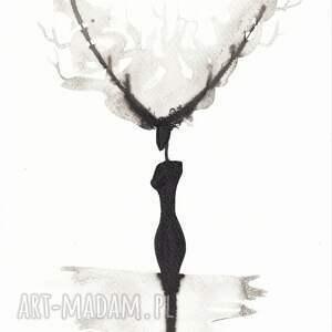 grafika obrazy-skandynawskie czarno-biała minimalizm