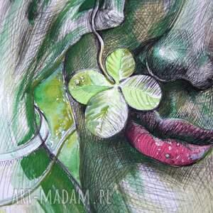 rysunek zielone czterolistna