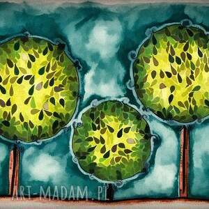 intrygujące plakat drzewa