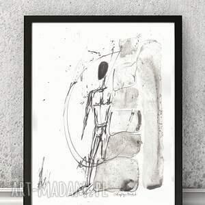szare grafika grafiki-abstrakcja dwie grafiki czarno-białe