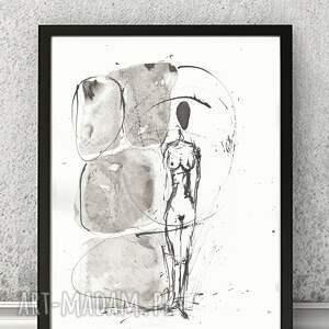 unikatowe grafika obrazy-abstrakcjne dwie grafiki czarno-białe