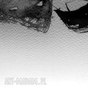 plakat modowy szare kobieta - grafika czarno biała