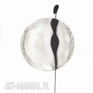 szare grafiki przedpokój grafika kobieta minimalizm, obraz