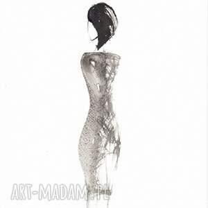 ART Krystyna Siwek plakat modowy kobieta - grafika czarno biała