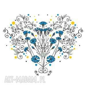 grafika chabry kwiaty naszych pól...