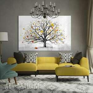 efektowne drzewo nowoczesny obraz do salonu
