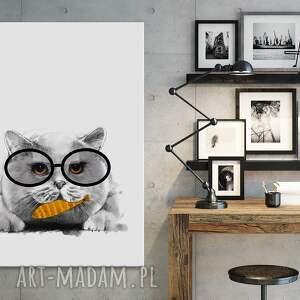 kot obraz drukowany na płótnie
