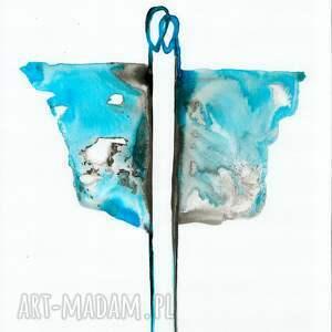 ART Krystyna Siwek obraz malowany ręcznie 30 x 40 cm, abstrakcja, minimalizm - grafika