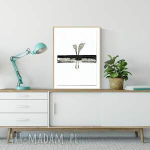 minimalizm białe obraz malowany ręcznie 30 x 40