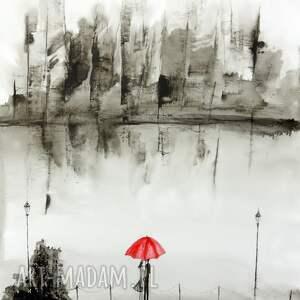 grafika plakat-romantyczny obraz ręcznie malowany, akwarela