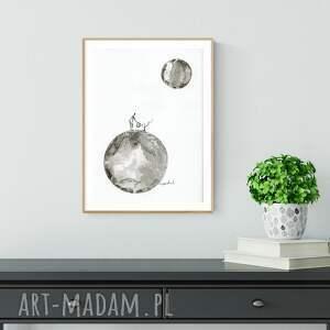 obraz ręcznie malowany białe obrazek