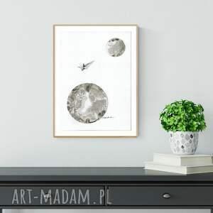 minimalizm białe obrazek a4 malowany ręcznie