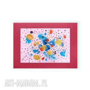 design różowe oryginalna grafika do sypialni