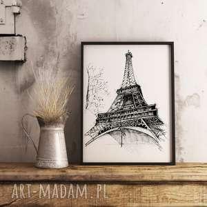 białe eiffla wieża paryż