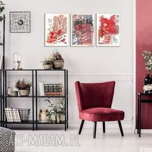 Ręcznie wykonane grafiki A4 abstrakcja - zestaw - rośliny grafika
