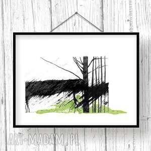 grafika tryptyk w lesie... poetycki