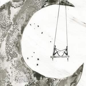 ART Krystyna Siwek grafika 30x40 cm wykonana ręcznie, abstrakcja, elegancki minimalizm, obraz 0braz do salonu