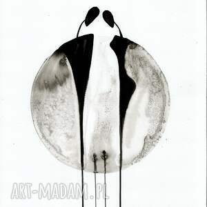 ART Krystyna Siwek grafika 30x40 cm wykonana ręcznie, plakat, abstrakcja, elegancki minimalizm grafiki do salonu