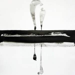 minimalizm grafika 50x70 cm wykonana ręcznie