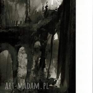 szare obrazy do salonu grafika 50x70 cm wykonana ręcznie