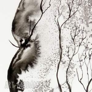 plakaty grafika białe 50x70 cm wykonana ręcznie
