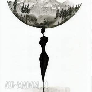 ART Krystyna Siwek zestaw 2 grafik 30X40 cm wykonanych ręcznie, abstrakcja, elegancki minimalizm