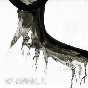 obrazy ręcznie malowane białe zestaw 2 grafik 50x70 cm wykonanych