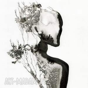 zestaw 2 grafik 30X40 cm wykonanych ręcznie, abstrakcja, elegancki minimalizm obrazy grafiki