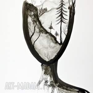eleganckie obrazy ręcznie malowane zestaw 2 grafik 50x70 cm wykonanych