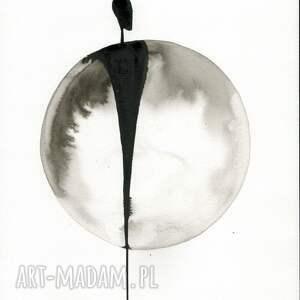 ART Krystyna Siwek zestaw 3 grafik A4 wykonanych ręcznie, abstrakcja, elegancki minimalizm, obraz grafiki do salonu