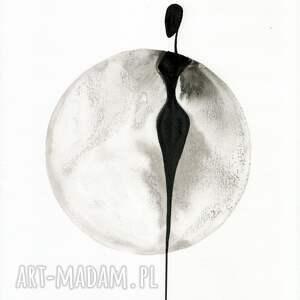zestaw 3 grafik 30X40 cm wykonanych ręcznie, abstrakcja, elegancki minimalizm obrazy malow