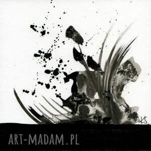 zestaw 6 grafik 13X13 cm wykonanych ręcznie, abstrakcja, elegancki minimalizm grafika artystyczna