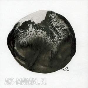 ART Krystyna Siwek zestaw 6 grafik 13X13 cm wykonanych ręcznie, abstrakcja, elegancki minimalizm grafiki do sypialni
