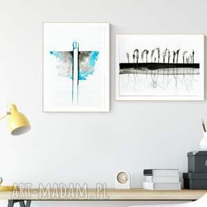 eleganckie obraz ręcznie malowany zestaw 7 grafik