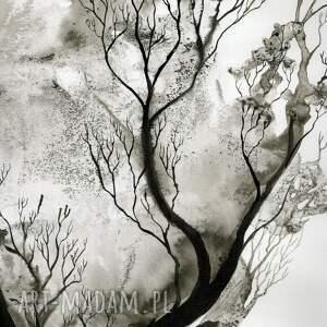 abstrakcja obrazy zestaw 2 grafik 50x70 cm wykonanych