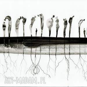 eleganckie abstrakcja obrazy zestaw 7 grafik