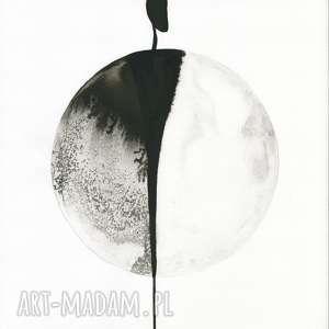 minimalizm białe zestaw 3 grafik 30x40 cm wykonanych