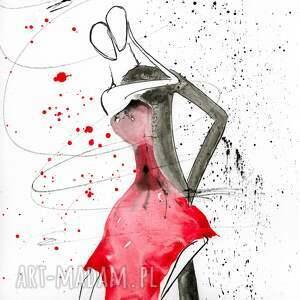 szare grafika abstrakcja-taniec zestaw 2 obrazów 30 x 60 cm
