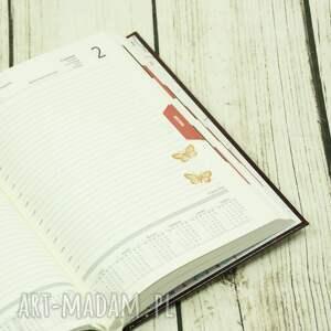 kalendarz pomarańczowe książkowy na rok 2019 ozdobiony