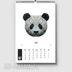 białe rok kalendarz na 2019 rok z grafikami z kolekcji
