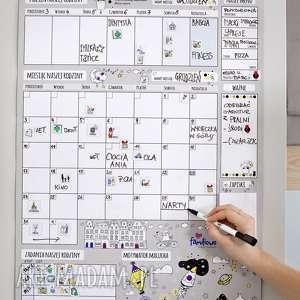 hand-made kalendarze prezezent planer miesięczny na ścianę lub